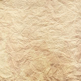 Crumpled and yellowed paper texture. Stock Photo