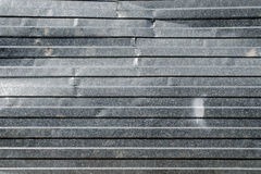 Crumpled zinc industrial plate. Crumpled metal fence. Background, texture series Royalty Free Stock Photos