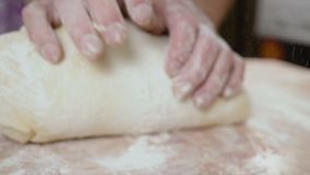 Crumples dough close up hd stock footage