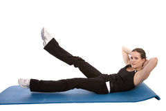 Crunch legs up Royalty Free Stock Photography