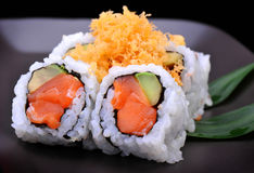 Crunch salmon roll maki sushi Stock Images
