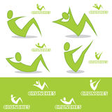 Crunches icons. Vector illustration of crunches icons Royalty Free Illustration