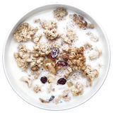 Crunches with milk, healthy breakfast Stock Photography