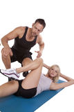 Crunches trainer Royalty Free Stock Photo