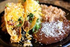 crunchy вкусный tacos стоковое фото rf