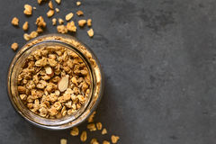 Crunchy Almond Oatmeal Granola Royalty Free Stock Photography
