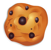 A crunchy biscuit with choco balls Royalty Free Stock Image