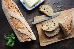 Crunchy bread Stock Image