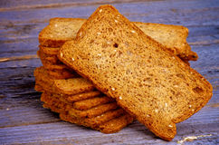 Crunchy Bread Slices Royalty Free Stock Images