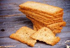 Crunchy Bread Slices Royalty Free Stock Photo