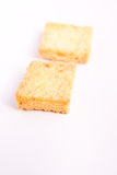 Crunchy bread with sugar Stock Image