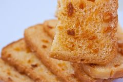 Crunchy bread with sugar Stock Photography