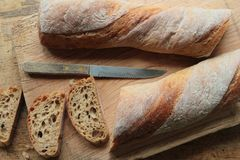 Crunchy bread Stock Photography