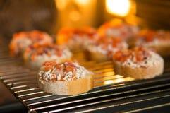 Crunchy bruschetta Stock Photo