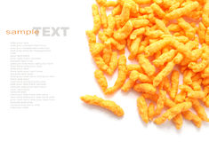 Crunchy cheese snacks Royalty Free Stock Images