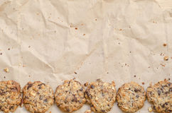 Crunchy chip cookies Royalty Free Stock Images