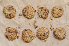 Crunchy chip cookies Royalty Free Stock Image