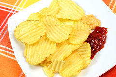 Crunchy chips Royalty Free Stock Photography