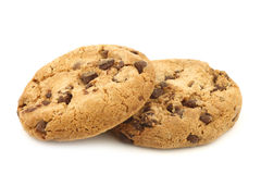 Crunchy chocolate chip cookies Royalty Free Stock Photos