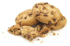 Crunchy chocolate chip cookies Stock Photo