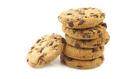 Crunchy chocolate chip cookies Royalty Free Stock Photography