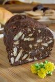 Crunchy chocolate salami Stock Photos