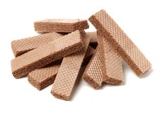 Free Crunchy Chocolate Wafers Stock Images - 113431944