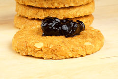 Crunchy cookies Stock Photo