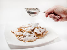 Crunchy cookies with vanilla Stock Images
