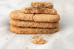 Crunchy crumbly oatmeal cookies Royalty Free Stock Photo