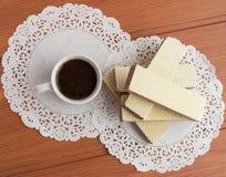 Crunchy czekoladowi opłatki fotografia royalty free