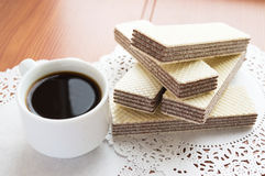 Crunchy czekoladowi opłatki zdjęcia royalty free