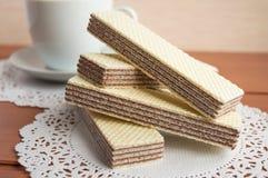 Crunchy czekoladowi opłatki obraz stock
