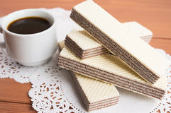 Crunchy czekoladowi opłatki fotografia stock