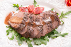 Crunchy duck's breast with orange Stock Image
