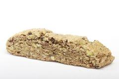 Crunchy Espresso Biscotti. A crunchy espresso-flavored biscotti on white background Royalty Free Stock Image
