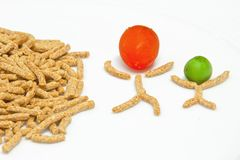 Crunchy fiber breakfast Royalty Free Stock Photos