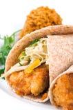 Crunchy Fish Tacos Stock Photos
