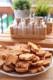 Crunchy fresh biscuits Stock Photos