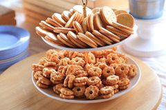 Crunchy fresh biscuits Stock Photography