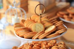 Crunchy fresh biscuits Stock Images