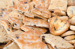 Crunchy fresh salted biscuits Stock Image