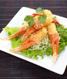 Crunchy fried crab leg appetizer Royalty Free Stock Photos