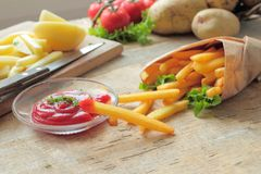 Crunchy fries Stock Photo