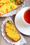 Crunchy fruit cake Stock Images