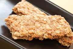 Crunchy granular bar whole grain Royalty Free Stock Photos