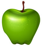 A crunchy green apple. Illustration of a crunchy green apple on a white background Stock Photo