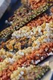 Crunchy with hazelnut and almond Stock Photos