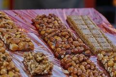 Crunchy with hazelnut and almond Stock Photography