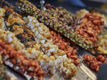 Crunchy with hazelnut and almond Stock Images